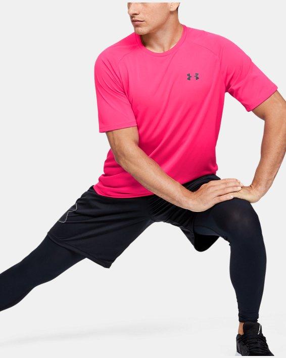 Men's UA Tech™ 2.0 Short Sleeve, Pink, pdpMainDesktop image number 1