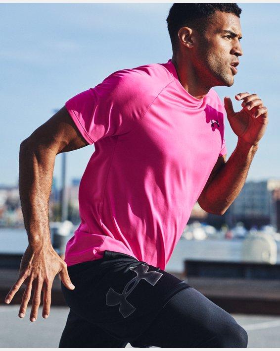 Men's UA Tech™ 2.0 Short Sleeve, Pink, pdpMainDesktop image number 6