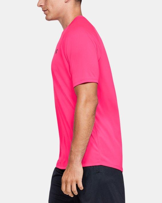 Men's UA Tech™ 2.0 Short Sleeve, Pink, pdpMainDesktop image number 3