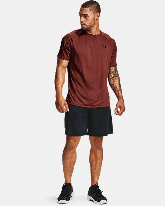 Men's UA Tech™ 2.0 Short Sleeve, Red, pdpMainDesktop image number 0