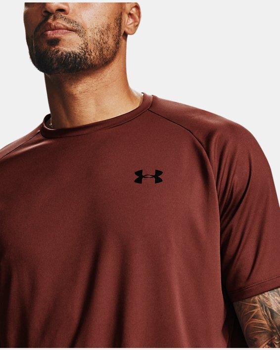 Men's UA Tech™ 2.0 Short Sleeve, Red, pdpMainDesktop image number 5