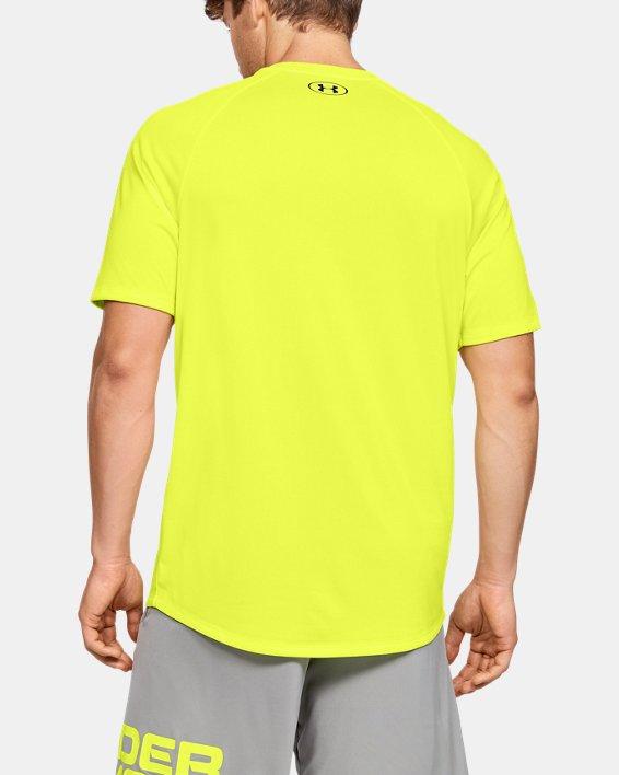 Men's UA Tech™ 2.0 Short Sleeve, Yellow, pdpMainDesktop image number 2