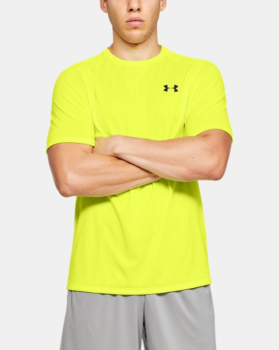 Men's UA Tech™ 2.0 Short Sleeve, Yellow, pdpMainDesktop image number 0