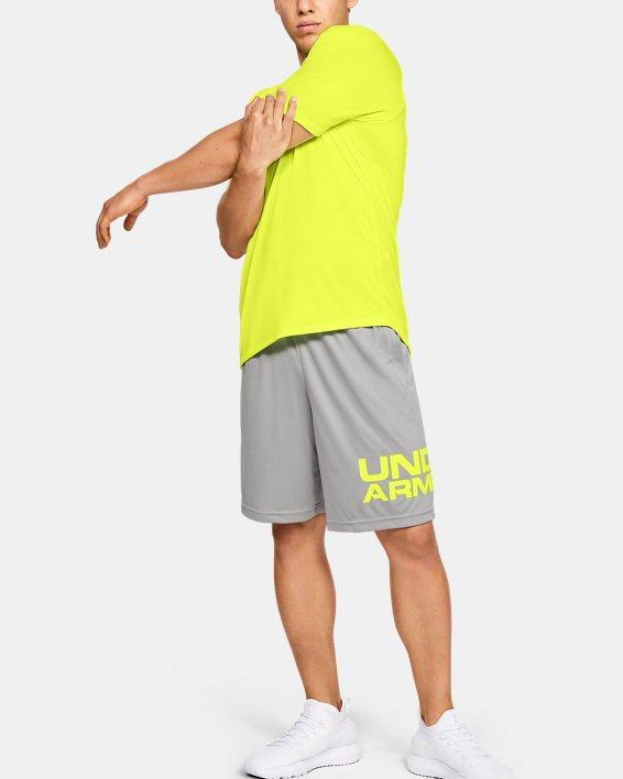Men's UA Tech™ 2.0 Short Sleeve, Yellow, pdpMainDesktop image number 1