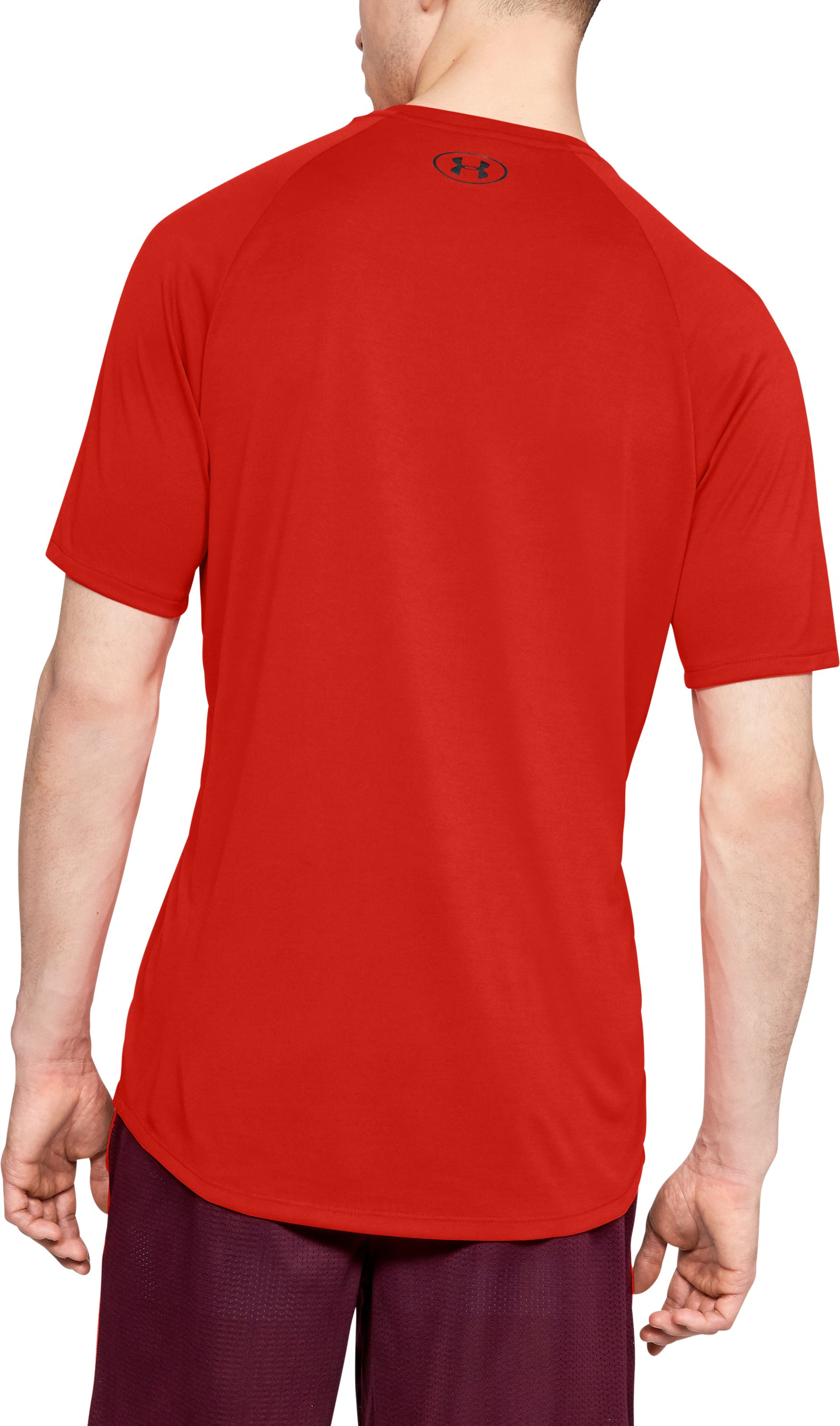 Men's UA Tech™ Short Sleeve, Radio Red,