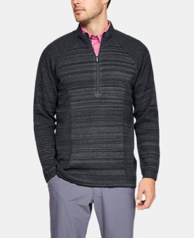 New Arrival Men's UA Threadborne ½ Zip Sweater FREE U.S. SHIPPING 3  Colors Available $150