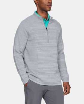 New Arrival Men's UA Threadborne ½ Zip Sweater  3  Colors Available $150