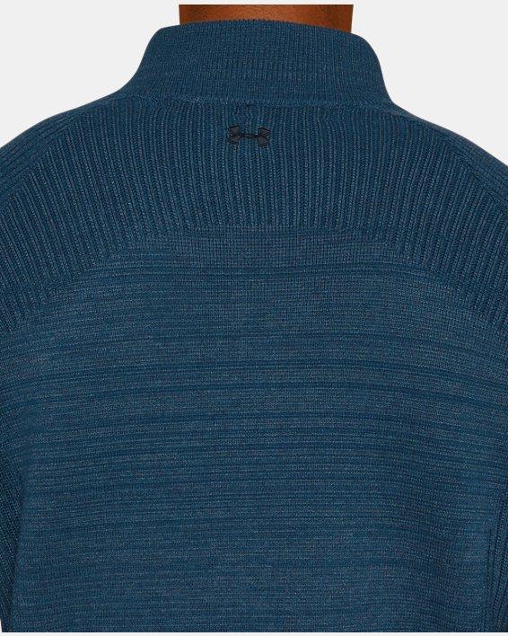 Men's UA Threadborne ½ Zip Sweater, Blue, pdpMainDesktop image number 6