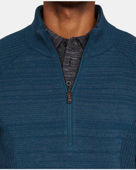Men's UA Threadborne ½ Zip Sweater, Blue, pdpMainDesktop image number 7