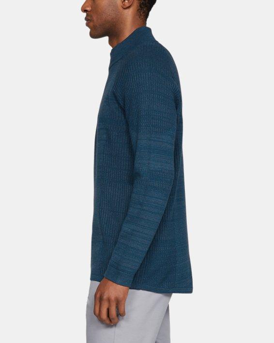 Men's UA Threadborne ½ Zip Sweater, Blue, pdpMainDesktop image number 3
