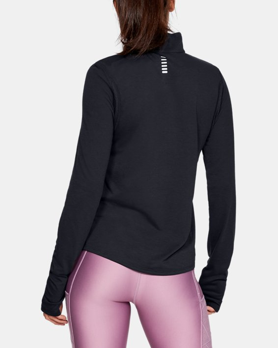 Women's UA Streaker ½ Zip, Black, pdpMainDesktop image number 2