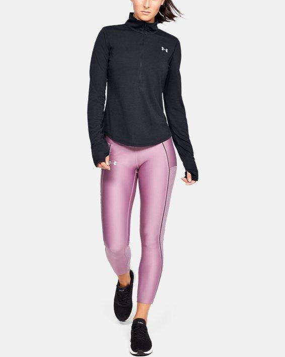 Women's UA Streaker ½ Zip, Black, pdpMainDesktop image number 1