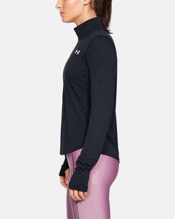 Women's UA Streaker ½ Zip, Black, pdpMainDesktop image number 3