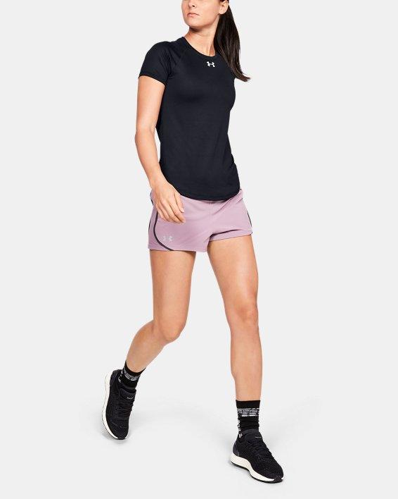 Women's UA Qualifier HexDelta Short Sleeve, Black, pdpMainDesktop image number 1