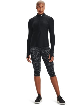Under Armour microthread 1//2 Zip pour Femme Fitness Training Top Blue