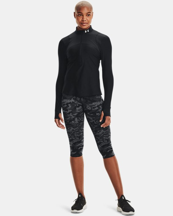 Women's UA Qualifier ½ Zip, Black, pdpMainDesktop image number 1