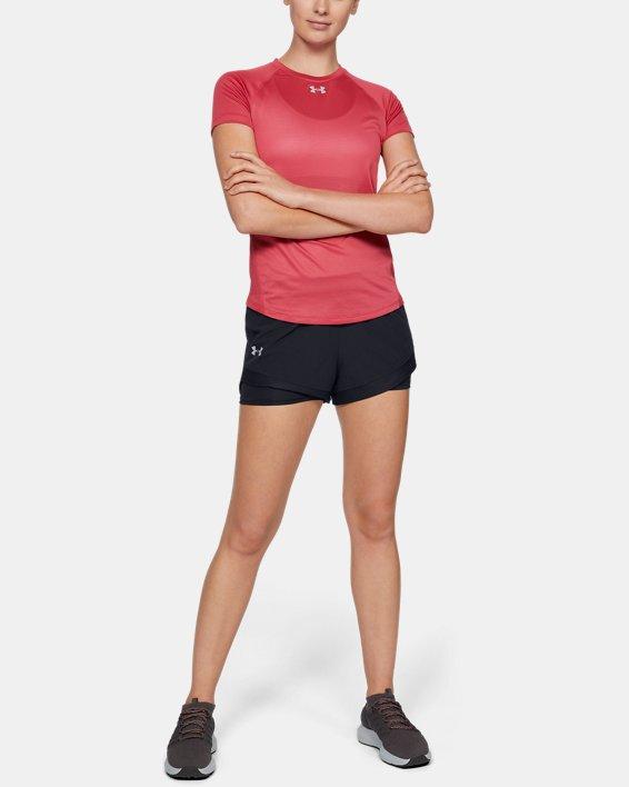 Women's UA Qualifier Speedpocket 2-in-1 Shorts, Black, pdpMainDesktop image number 1