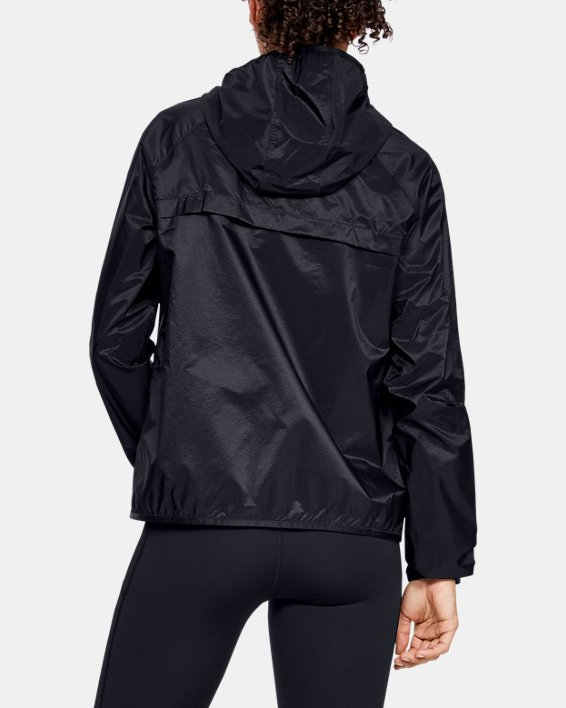 Women's UA Qualifier Storm Packable Jacket, Black, pdpMainDesktop image number 2