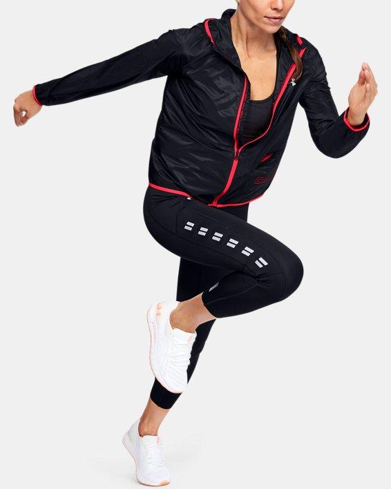 Women's UA Qualifier Storm Packable Jacket, Black, pdpMainDesktop image number 1