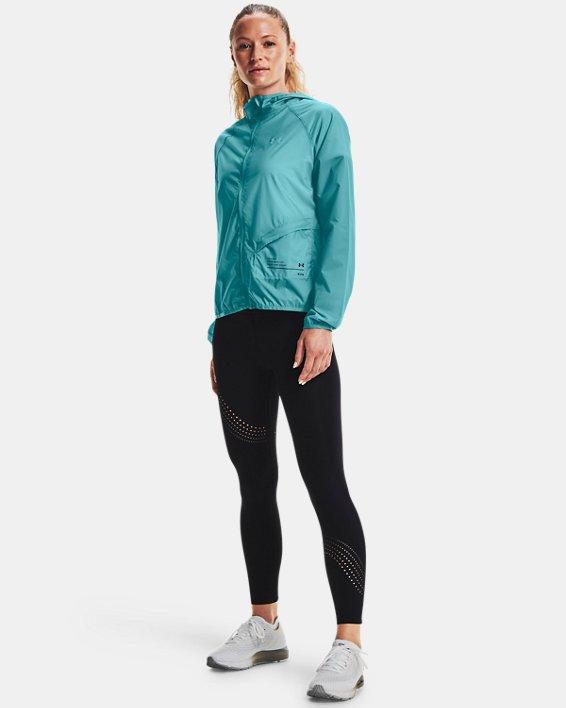 Women's UA Qualifier Storm Packable Jacket, Blue, pdpMainDesktop image number 0