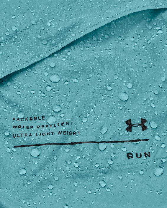 Women's UA Qualifier Storm Packable Jacket, Blue, pdpMainDesktop image number 7