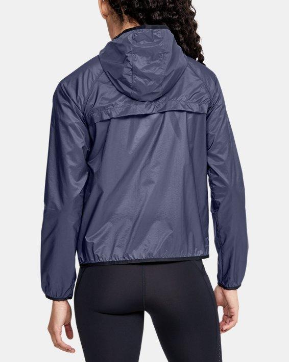 Women's UA Qualifier Storm Packable Jacket, Blue, pdpMainDesktop image number 2