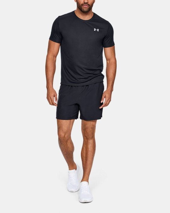 Men's UA Speed Stride Short Sleeve, Black, pdpMainDesktop image number 1