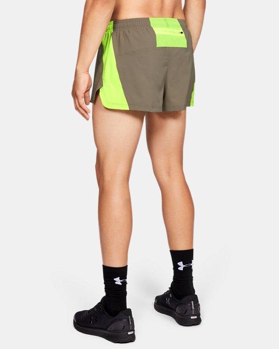 Men's UA Launch SW Split Shorts, Brown, pdpMainDesktop image number 2