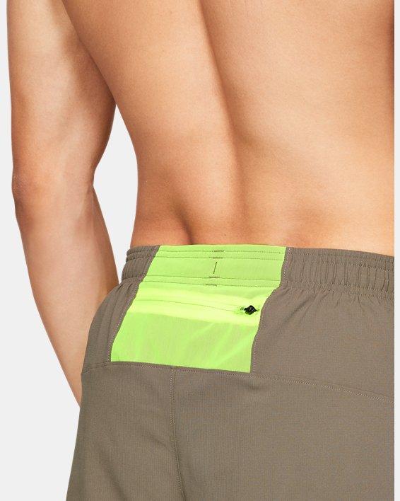 Men's UA Launch SW Split Shorts, Brown, pdpMainDesktop image number 5