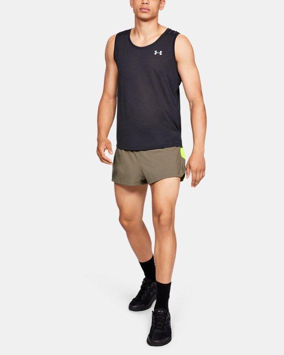 Men's UA Launch SW Split Shorts, Brown, pdpMainDesktop image number 1