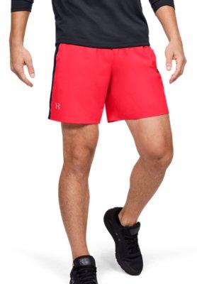Hommes Shorts De Course-Bleu Under Armour Lancement unique Weave 7 in environ 17.78 cm