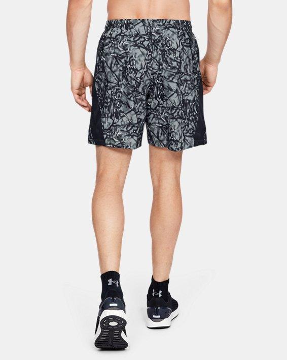 Men's UA Launch SW 7'' Printed Shorts, Black, pdpMainDesktop image number 2