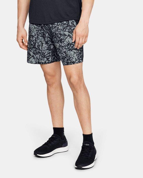 Men's UA Launch SW 7'' Printed Shorts, Black, pdpMainDesktop image number 0