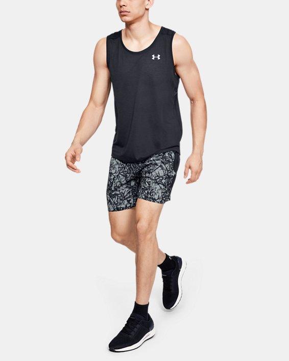 Men's UA Launch SW 7'' Printed Shorts, Black, pdpMainDesktop image number 1