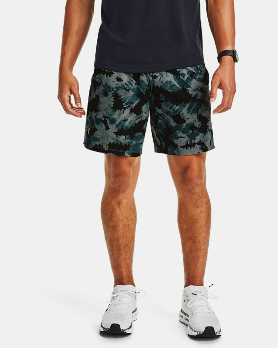 Short UA Launch SW 18 cm Printed pour homme, Blue, pdpMainDesktop image number 0