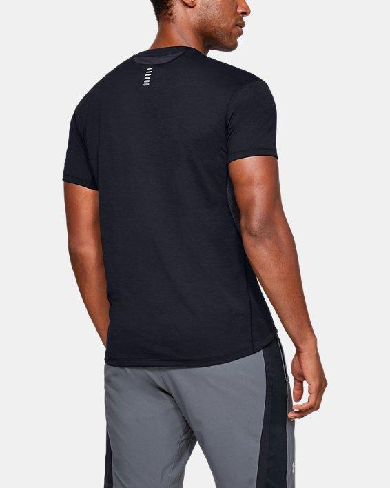 T-shirt à manches courtes UA Streaker pour homme, Black, pdpMainDesktop image number 2