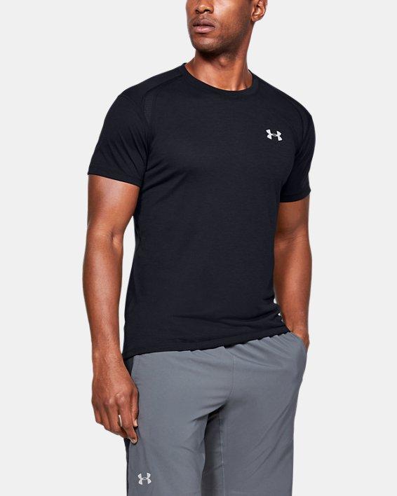 T-shirt à manches courtes UA Streaker pour homme, Black, pdpMainDesktop image number 0