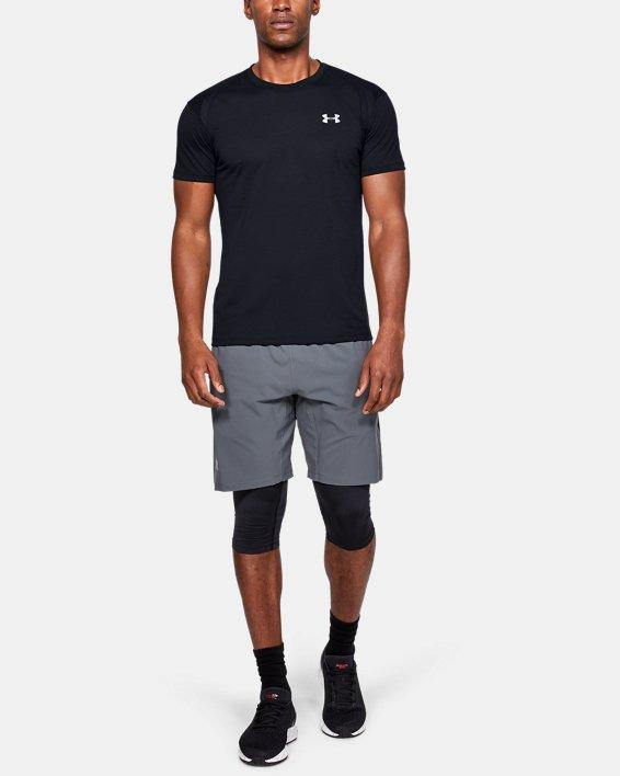 T-shirt à manches courtes UA Streaker pour homme, Black, pdpMainDesktop image number 1