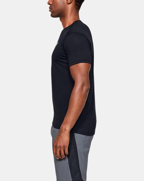 T-shirt à manches courtes UA Streaker pour homme, Black, pdpMainDesktop image number 3
