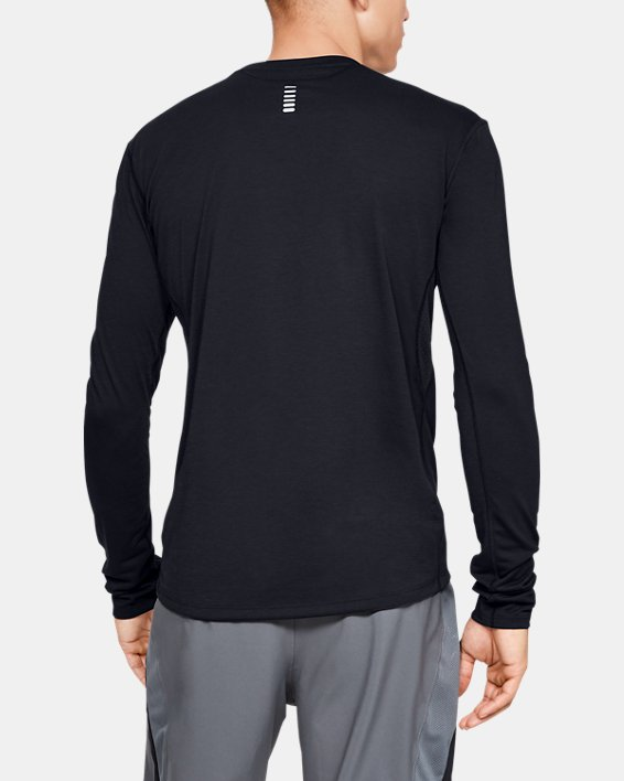 Men's UA Streaker Long Sleeve, Black, pdpMainDesktop image number 2