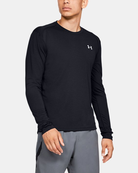 Men's UA Streaker Long Sleeve, Black, pdpMainDesktop image number 0