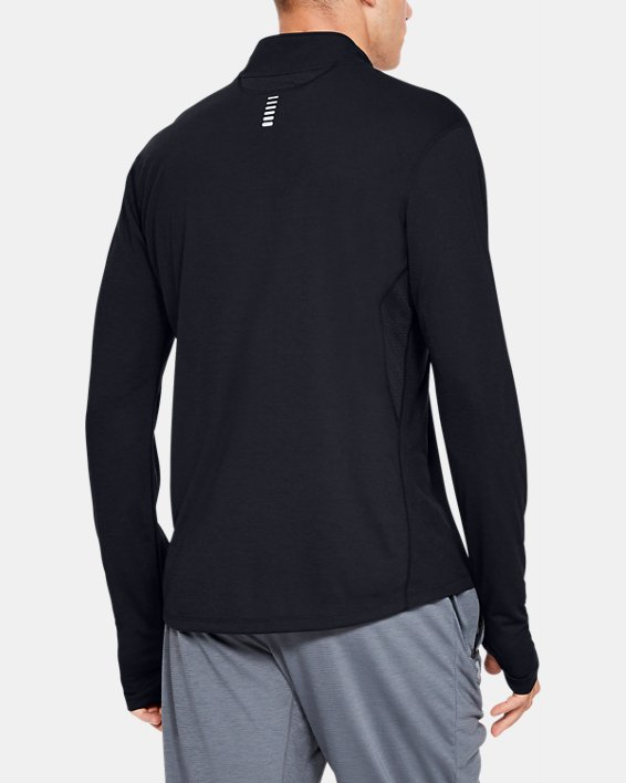 Men's UA Streaker ½ Zip, Black, pdpMainDesktop image number 2
