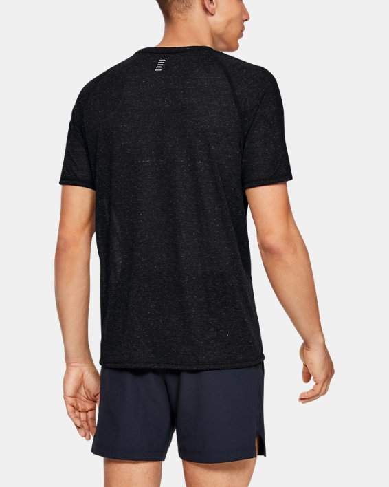 Men's UA Breeze Short Sleeve, Black, pdpMainDesktop image number 2