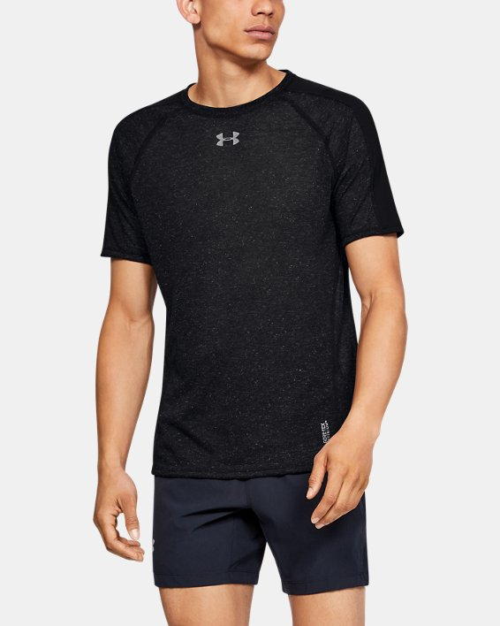 Men's UA Breeze Short Sleeve, Black, pdpMainDesktop image number 0