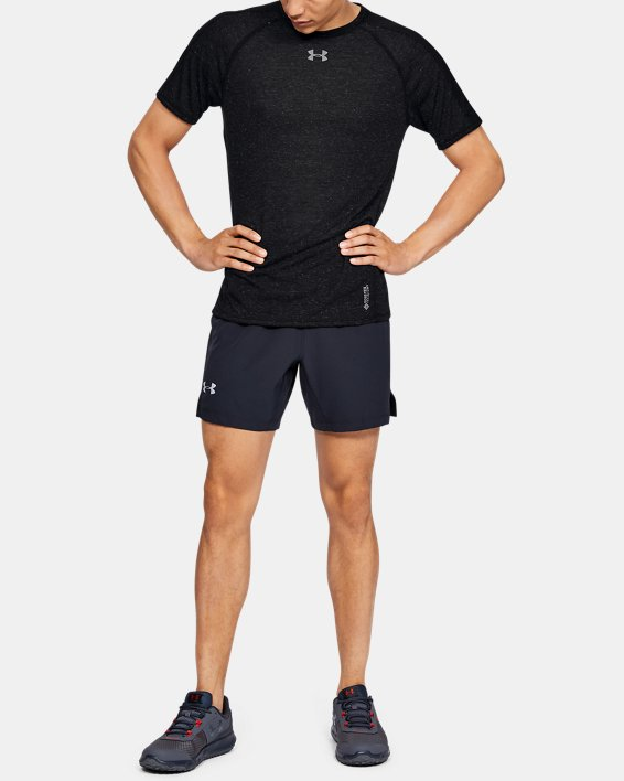 Men's UA Breeze Short Sleeve, Black, pdpMainDesktop image number 1