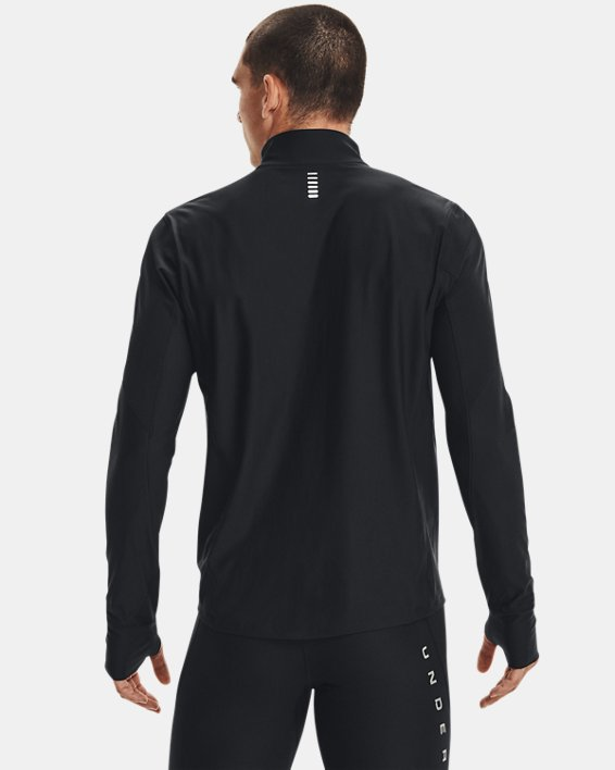 Men's UA Qualifier ½ Zip, Black, pdpMainDesktop image number 3