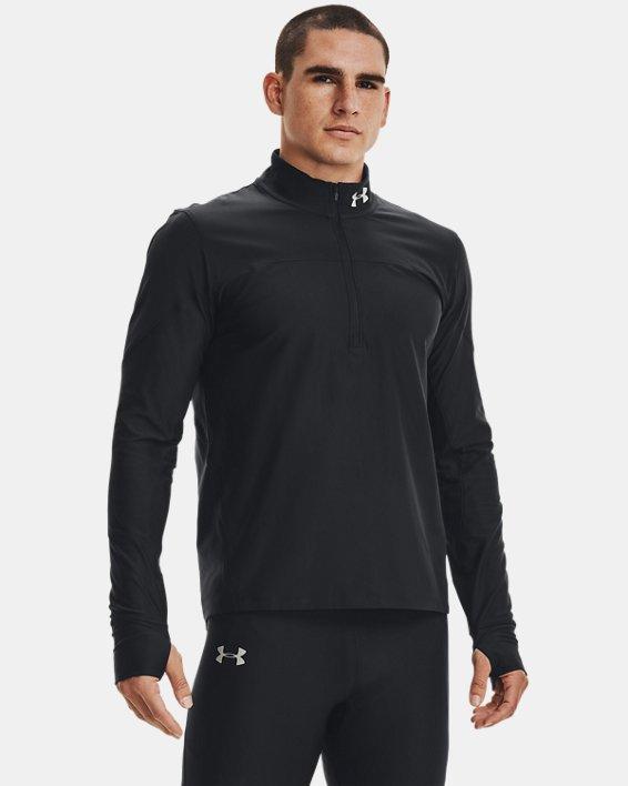 Men's UA Qualifier ½ Zip, Black, pdpMainDesktop image number 2