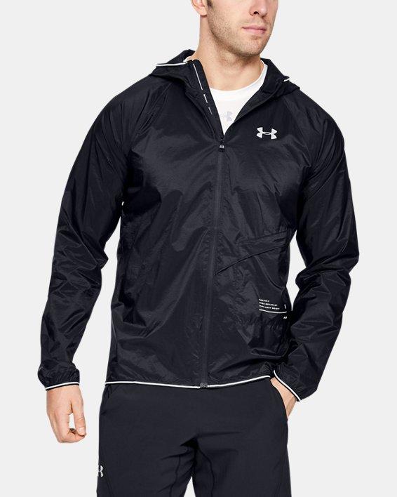 Men's UA Qualifier Storm Packable Jacket, Black, pdpMainDesktop image number 0
