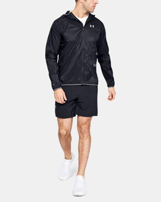 Men's UA Qualifier Storm Packable Jacket, Black, pdpMainDesktop image number 1