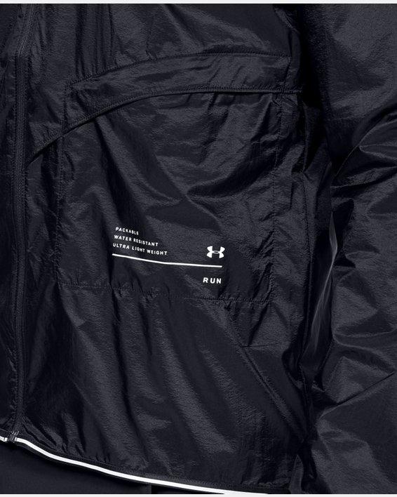 Men's UA Qualifier Storm Packable Jacket, Black, pdpMainDesktop image number 5